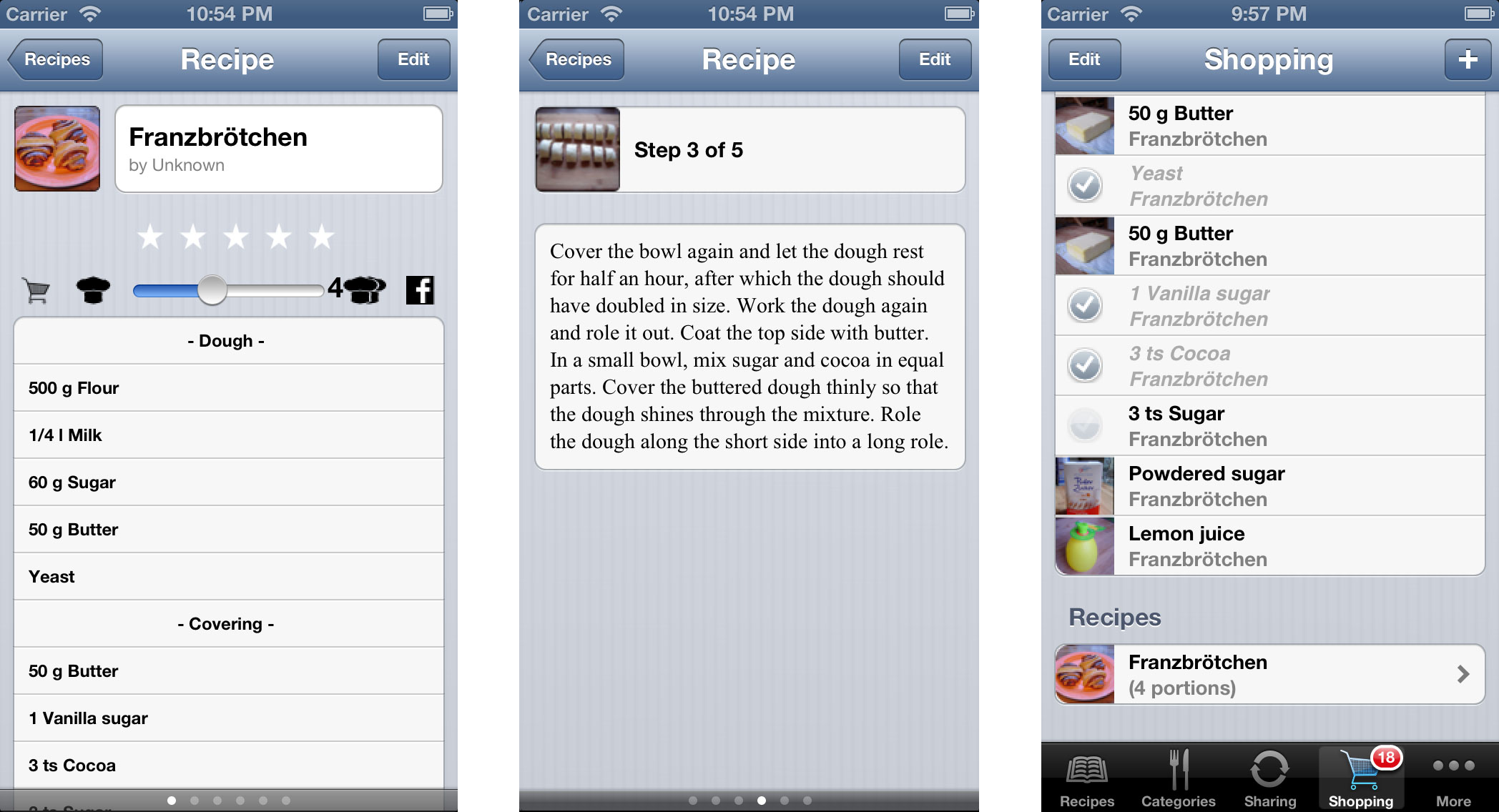 My favorite Recipes screenshots